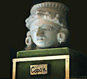 COPAN Full HeadDress Figurine
