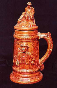 Ceramic Stein with Glazed Finish, Brown