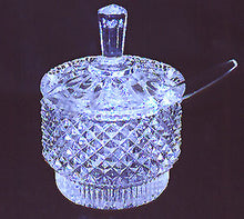 Load image into Gallery viewer, Crystal Sugar Bowl Set