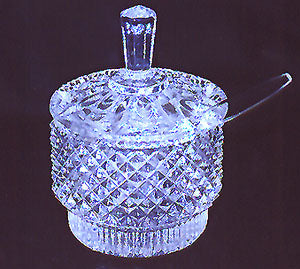 Crystal Sugar Bowl Set