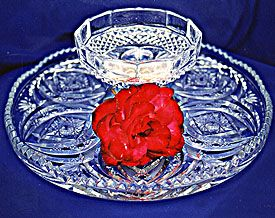 Crystal Serving Tray - 13 inches