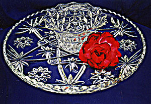 Crystal Serving Tray - 14 inches