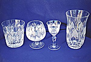 Bohemian Crystal Ware Set