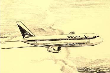 Delta Airlines A Pictorial History : Boeing 767 Jet Passenger