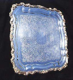 Square Silver Serving Tray