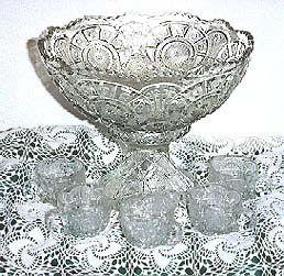 Brilliant Glass Punch Bowl & Glass Set
