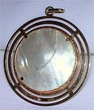 Load image into Gallery viewer, (RARE) Bahraini 18K Rose Gold & Pearl Pendant