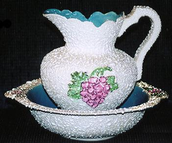 Antique Dryden Wash Bowl and Pitcher