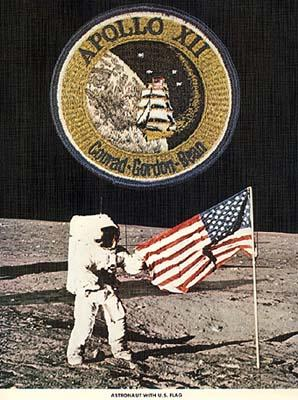 Astronaut With U.S. Flag - Apollo XII Memorabilia