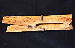Antique Solid Wood Clothes Pin