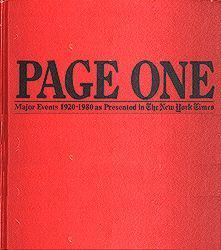 Page One Events of the World 1920 - 1980