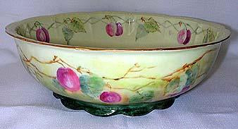 H C France Fine Porcelain Fruit Bowl