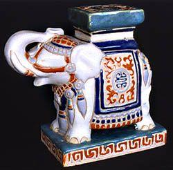 Hand Painted Porcelain China Elephant