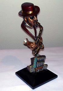 Round Midnight Legends Jazz Bronze Art Sculpture