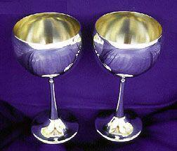 Silver Wedding Toasting Goblets.
