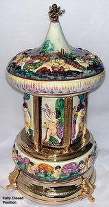 (RARE) Sorrento Reuge Capodimonte Porcelain with Swiss Musical Movements