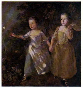 The Painter's Daughter Chasing A Butterfly