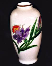 Beautiful Embossed Hand Painted Homco Bud Vase. Made in Japan. 4 1/2 x 1 1/2.