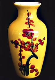 Brilliantly Hand Painted Floral Fine China Vase