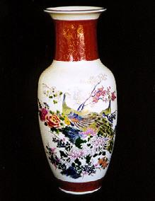 Beautiful Hand Painted Satsuma Vase