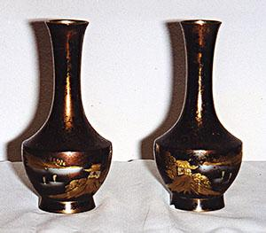 Beautiful Pair of Hand Crafted Oriental Vases