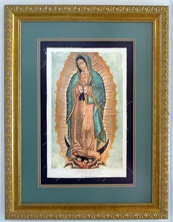 Our Lady of Guadalupe in Gold Leaf Frame