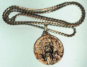 Face of Christ/Our Lady of Guadalupe Pendant Necklace