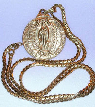 Load image into Gallery viewer, Face of Christ/Our Lady of Guadalupe Pendant Necklace