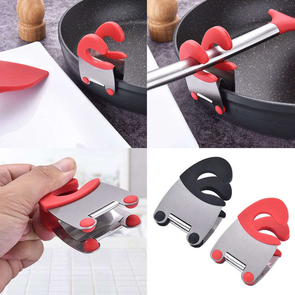 Useflul Pot Clips Stainless Steel Tongs Holder