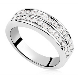 Open image in slideshow, Double Band Eternity Ring