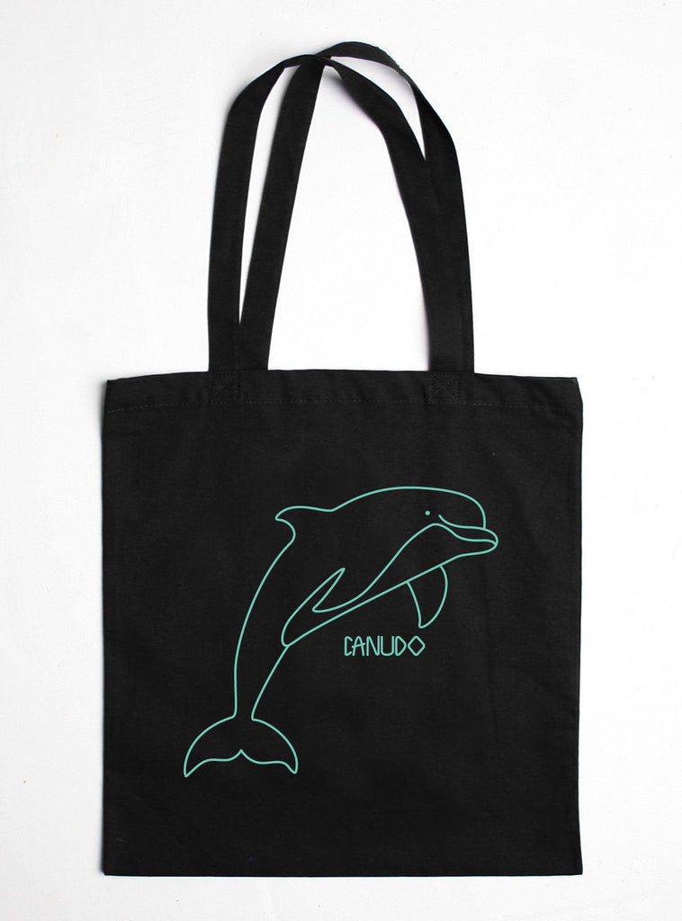 DOLPHIN COTTON TOTE BAG