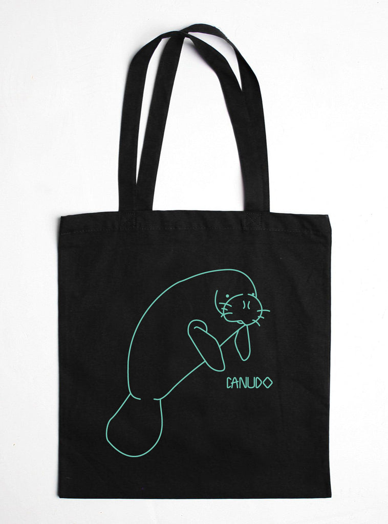 MANATEE COTTON TOTE BAG