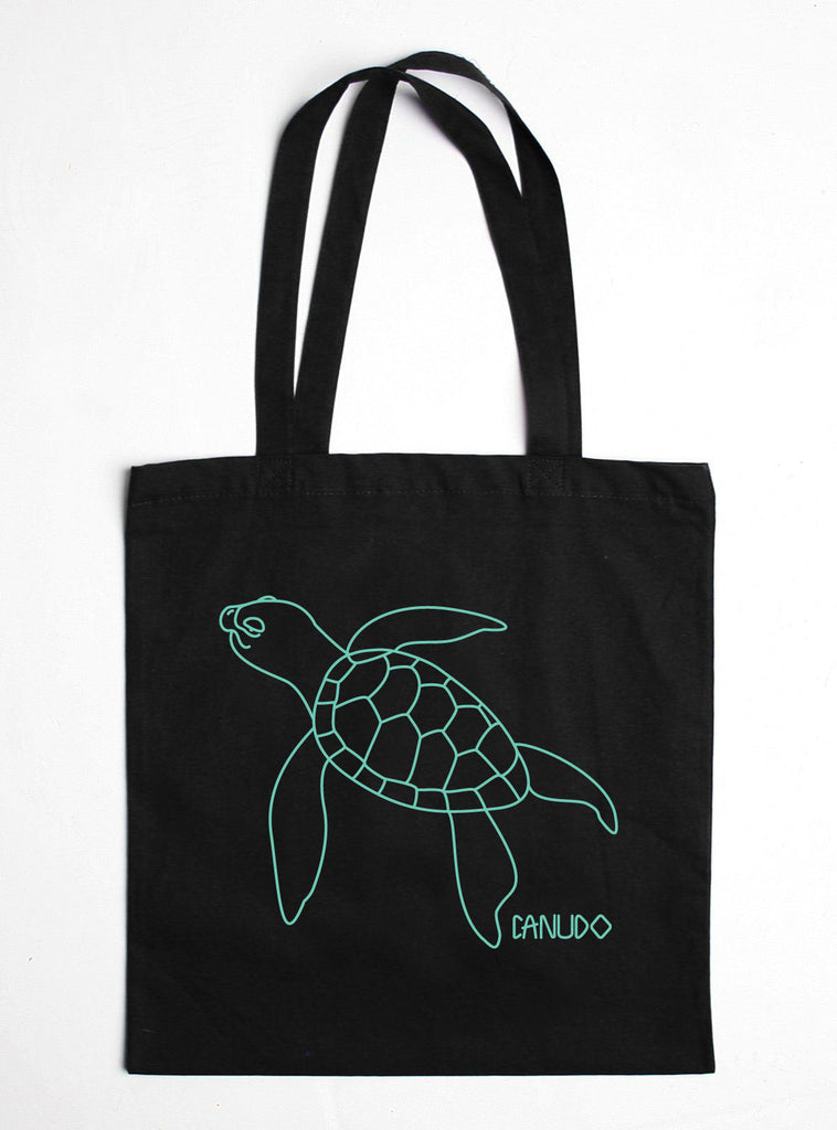 SEA TURTLE COTTON TOTE BAG