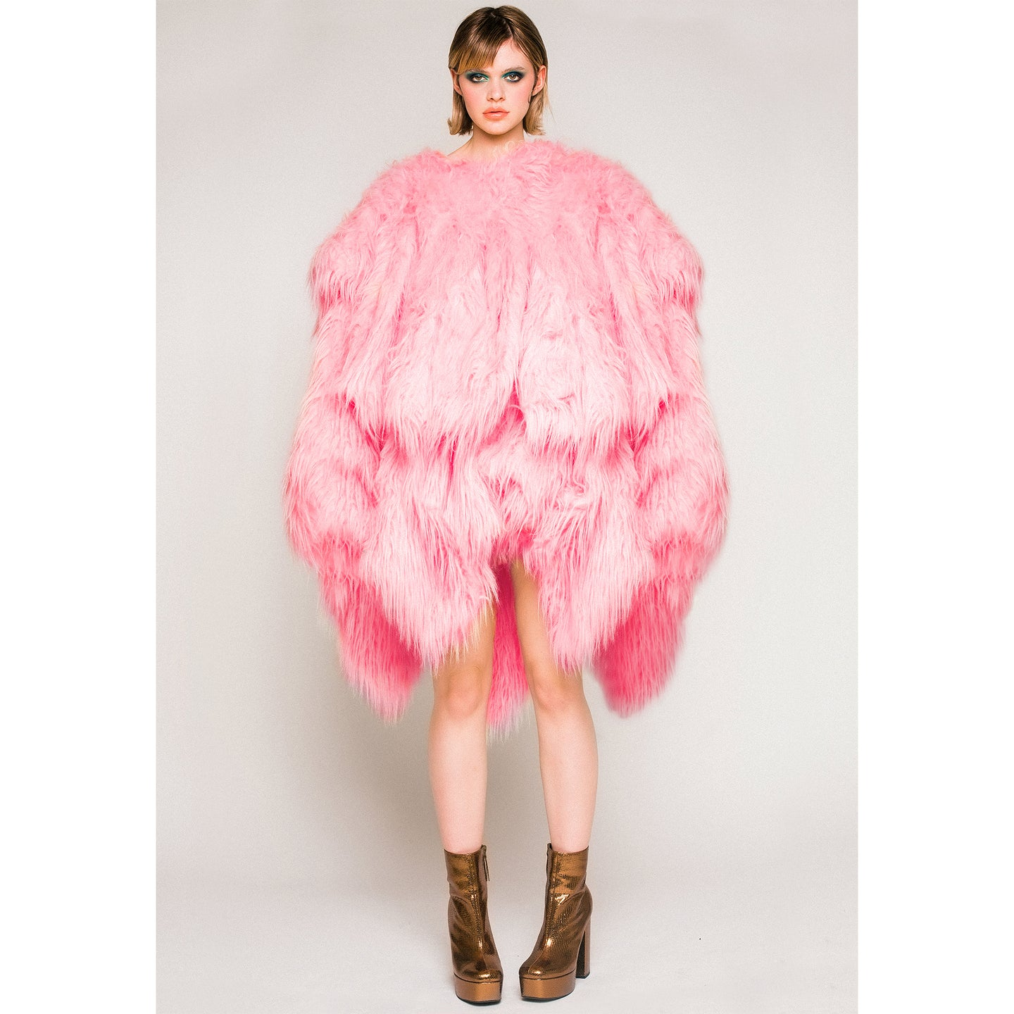 Adeline Faux Fur Coat - Candy Pink - Made To Order - One Size