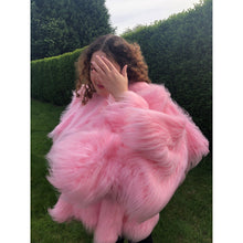 Load image into Gallery viewer, Adeline Faux Fur Coat - Candy Pink - Made To Order - One Size
