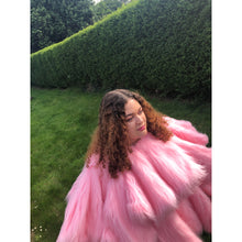 Load image into Gallery viewer, Adeline Faux Fur Coat - Candy Pink - Made To Order