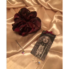 Load image into Gallery viewer, No Wallflower Project Wine Floral Scrunchy