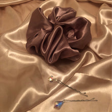 Load image into Gallery viewer, No Wallflower Project Mauve Satin Scrunchy