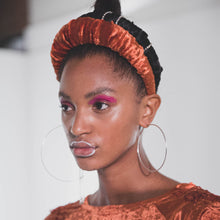 Load image into Gallery viewer, No Wallflower Project Burnt Orange Ruffle Headband