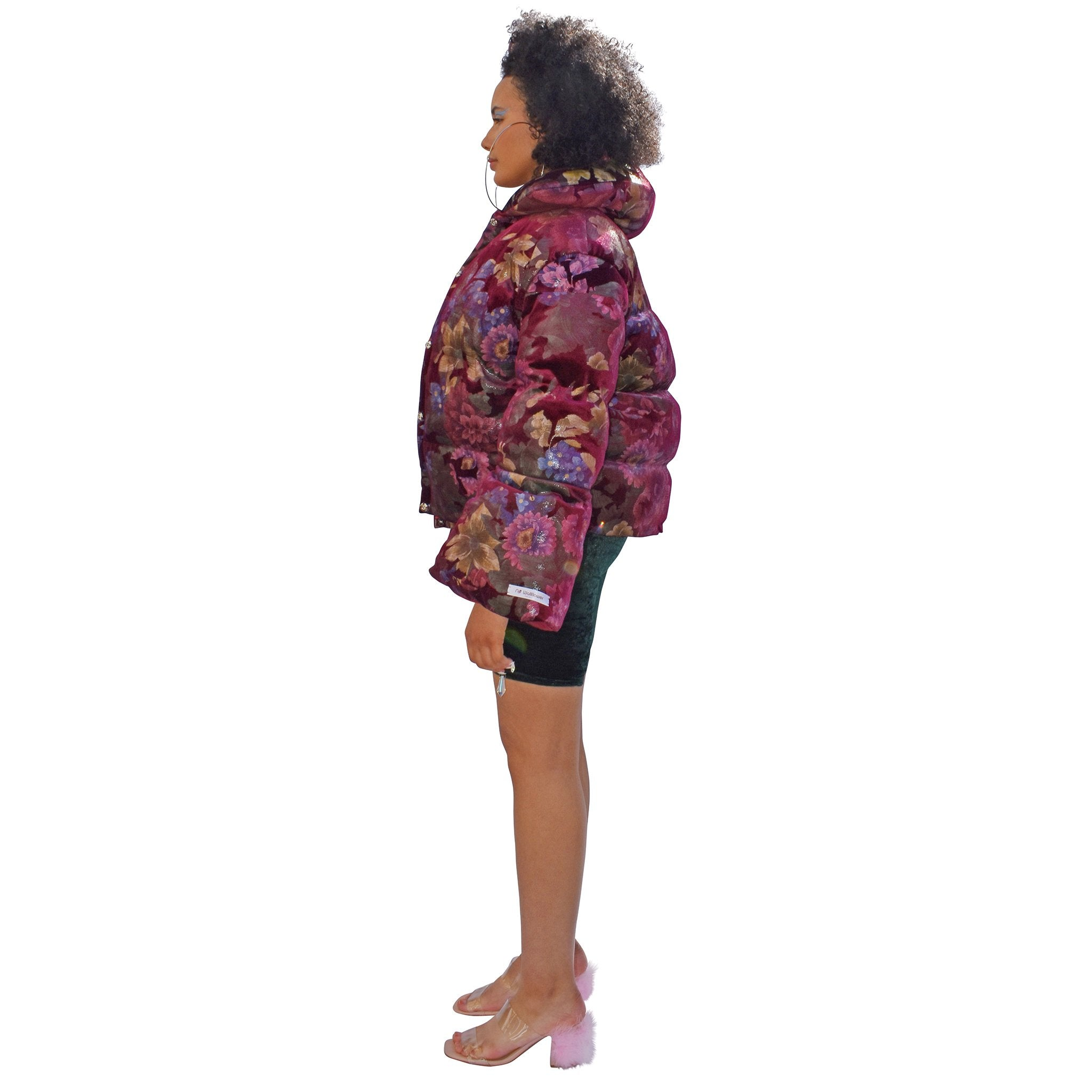 No Wallflower Project Wine Floral Opera Puffer