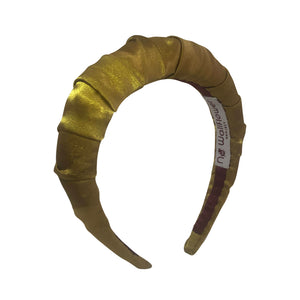 No Wallflower Project Chartreuse Satin Ruffle Headband