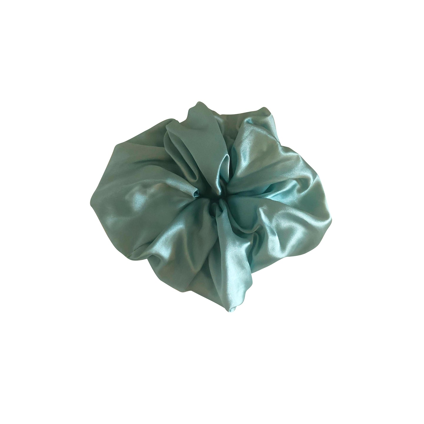 No Wallflower Project Mint Satin Scrunchy