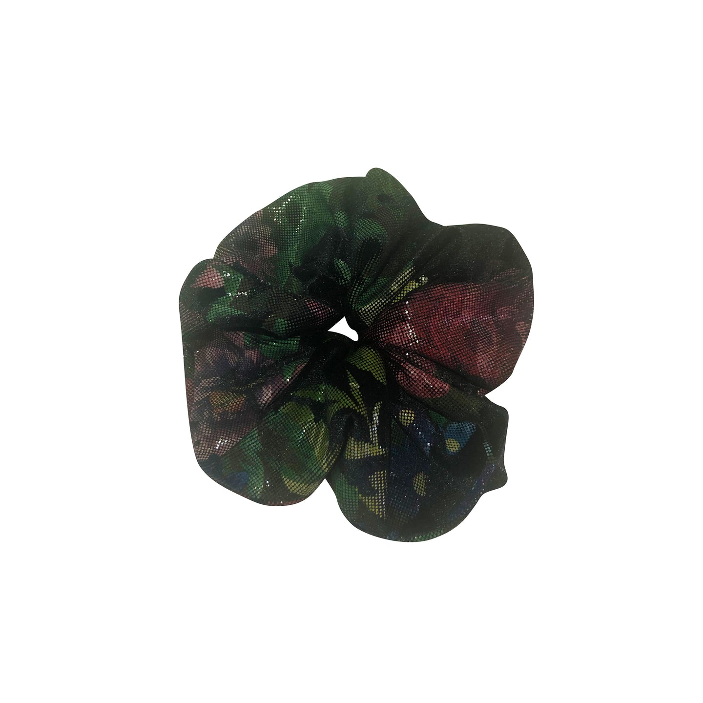 No Wallflower Project Black Floral Velvet Scrunchy