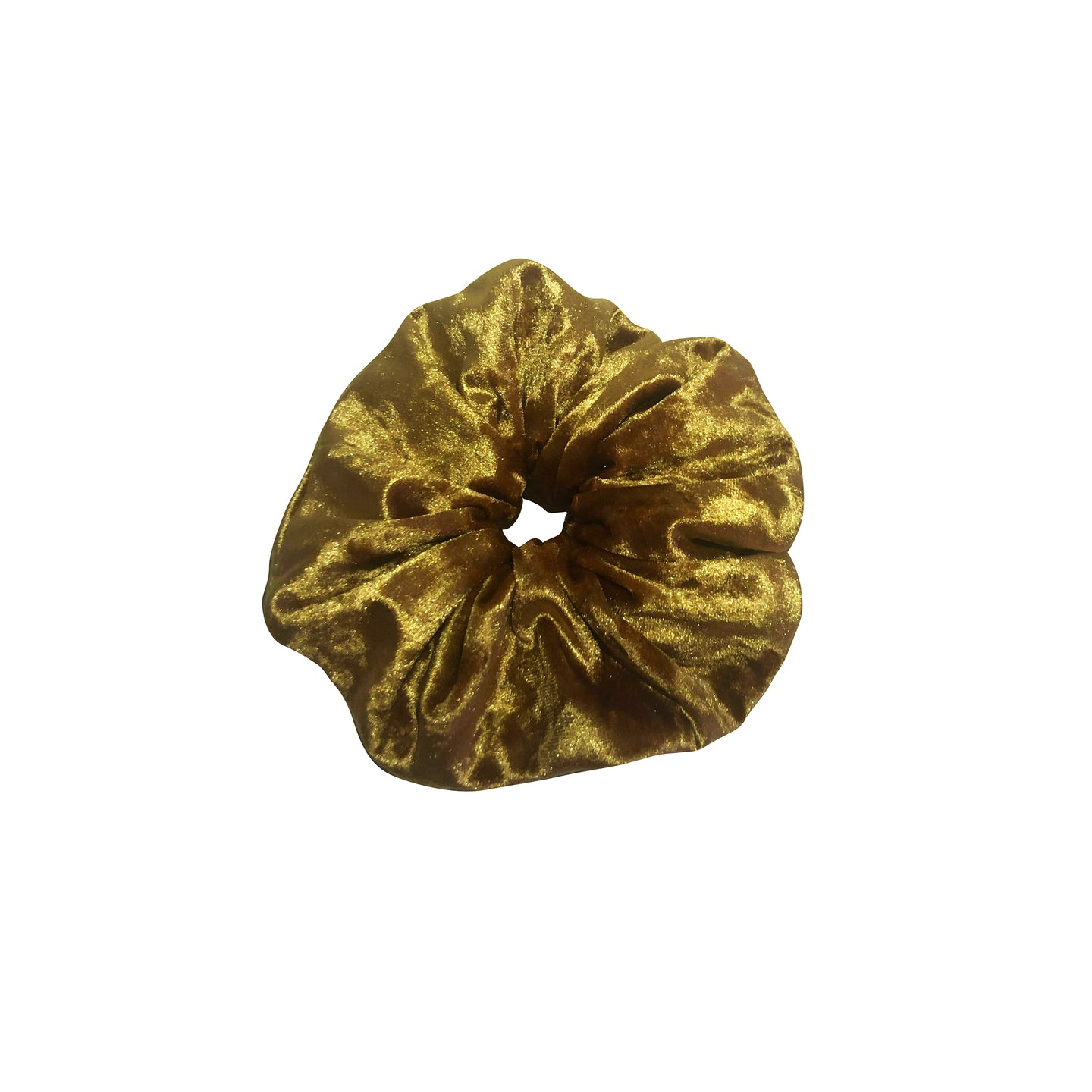 No Wallflower Project Gold Velvet Scrunchy
