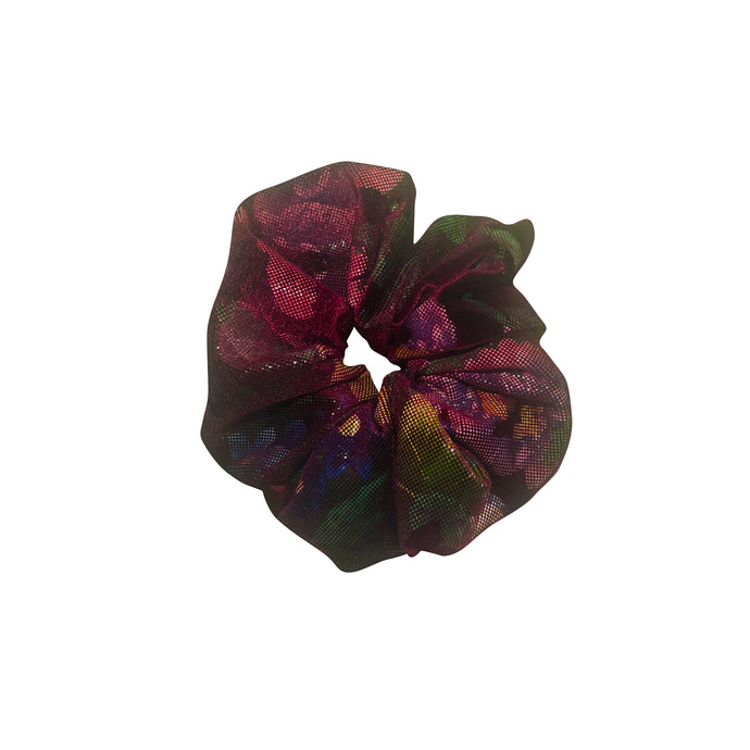 No Wallflower Project Wine Floral Velvet Scrunchy