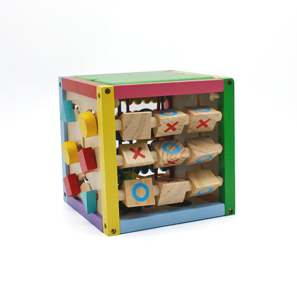 Wooden Learning Bead Maze Cube 5 in 1 Activity Center Educational Toy Multicolor 8