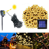 Warm White Light Outdoor Waterproof Christmas Decoration Solar Power String Light-66FT 200LED