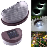 2LED Solar Fence Light White