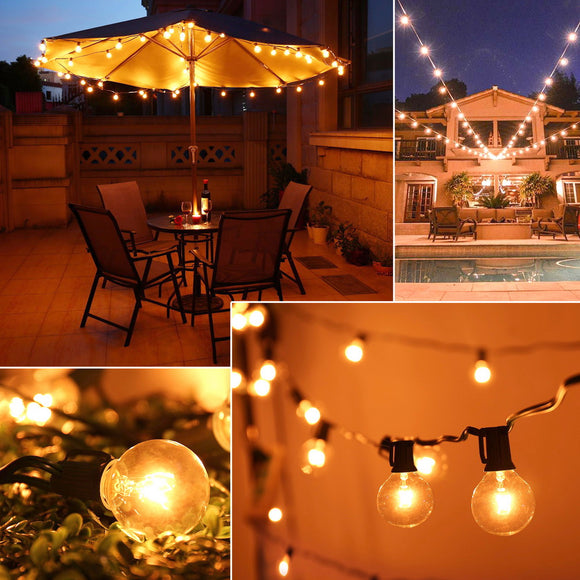 Light Bulb Outdoor Yard Lamp String Light with Brown Lamp Wire 125pcs