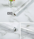 "Marble Self Adhesive Wallpaper Kitchen Furniture-Aluminum Foil 23.6""x196.8"""